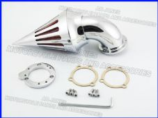 Air filter spiked air cleaner kit chrome Harley S&S Carburetors customs 227